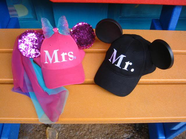 9e90256ff3856 Make Bride   Groom Mouse Ear Baseball Caps - Disney Travel Babble