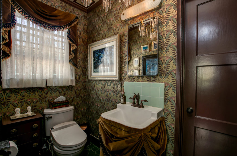 Our Haunted Mansion Bathroom Is On Apartment Therapy