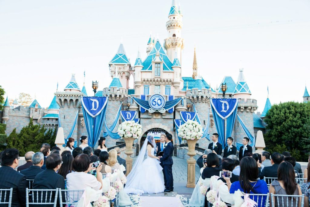 Disneyland Castle Wedding Spotlight Christina Kevin